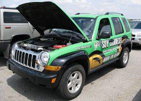 大豆バイオ燃料ディーゼルのデモ車