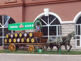 青島ビール博物館中庭。