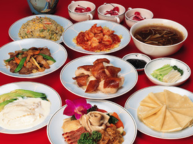 中国の宴会料理の例。