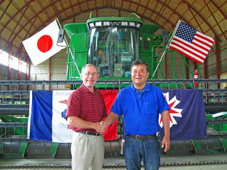 来日したアメリカ穀物協会会長(当時)と