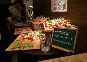 シードルに合わせたお洒落なフードは笹塚のガレット屋「メゾン・ブルトンヌ・ガレット屋」から。
