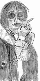 原田芳雄(絵・筆者)