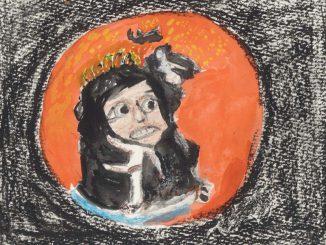 人格を矯正されるアレックスのイメージ(絵・筆者)