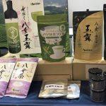 西福製茶(福岡市)は各種の緑茶に加え、今回は水出し抽出・サーブ用専用ボトルも展示。ノンアルコールの食中飲料として推進する。