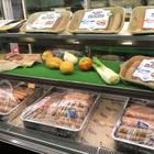 テーマ別出展のグリーンフードエリアに出店した米国の人造肉製品「BEYOND MEAT」。