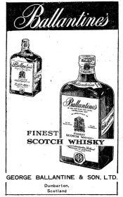 1954年のバランタイン広告