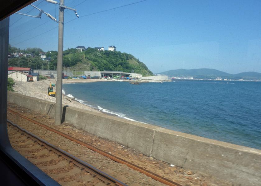 昔海水浴に出かけた東小樽海岸