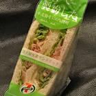 香港の「セブン-イレブン」のサンドイッチ。「日本で製粉した」とある。