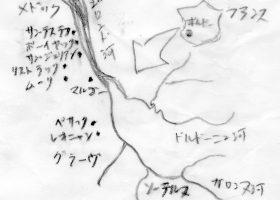 ボルドーの位置関係図