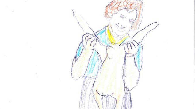 「ザ・フレンチ・シェフ」(The French Chef)でカモの骨抜きを披露するジュリア・チャイルド。