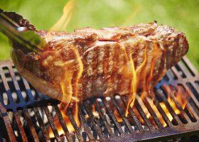 青空の下でおいしい肉を楽しむステーキキャンプも「レボリューション」のありようの1つだ