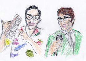 トニー谷(左)とトミー谷。メガネをかけていること以外の印象はだいぶ異なる