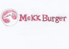 リザの「ハレ」の場でありラストの重要なシーンの舞台ともなるメックバーガーのロゴマーク