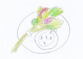 野菜ブーケと黒アリのディップ