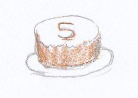 """ジャックがママと""""部屋""""で作った5歳のバースデーケーキ"""