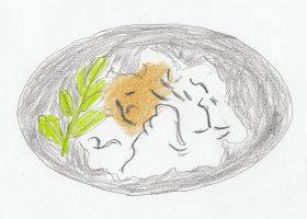クジラの尾びれの部位であるオバケ(尾羽毛)。酢味噌で食べる