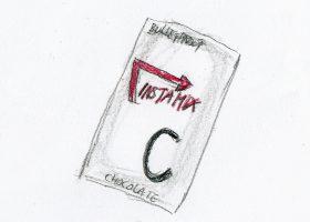 クリーミングパウダー「インスタミックス」の袋。マックシェイクと同じ、バニラ、チョコレート、ストロベリーのフレーバーがある