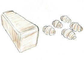 「ペリカン」の主力商品である食パンとロールパン