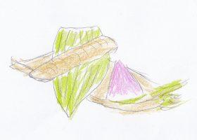 大日本帝国食菜全席のレシピ第1号となった鮎の春巻(現代バージョン)
