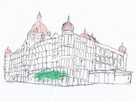 ムンバイ同時多発テロで標的の一つになったタージマハル・ホテル。