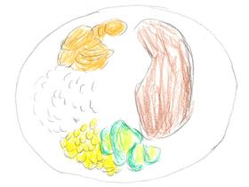 「東京オリンピック」より。競技を終えたチャドのアフメド・イサ選手が食べていたステーキプレート。ドラマ「夢食堂の料理人〜1964東京オリンピック村物語」ではイサ選手がモデルと思われるチャドの選手はステーキを何度も焼き直させるため、若い料理人たちから「ミスター・ウェルダン」と呼ばれていた。