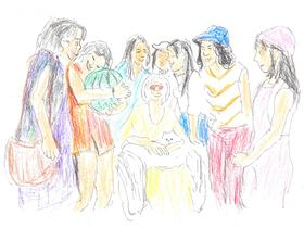 7人の「ハウスガールズ」たちは西瓜を手土産にオシャレのおばちゃまの住む羽臼屋敷を訪れる。
