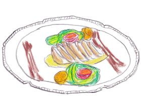 カニーラが切断したタッコラの足を用いたグリルステーキは、舌がとろけるほどの美味であった。