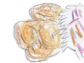 コンビニから調達した廃棄食材で作った豆腐ハンバーグ。