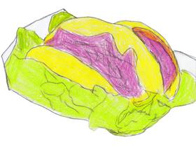 エイブがレンタル厨房のシェフたちのまかないとして作った「シャワコス」。中東の「シャワルマ」とメキシコの「タコス」のフュージョン料理である。