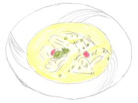 チェンがシルカのために作った薬膳スープ。