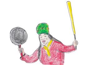 文の夢に夜な夜な出現し、傍若無人な料理ショーを展開する芳村花代子。