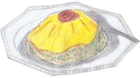 春子と知世の因縁の料理「はあちゃんライス」。町中華「満福」の看板メニューである。