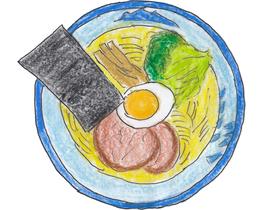 「AFURI」の看板メニューである「柚子塩らーめん」。日清食品からコラボ商品のカップ麺も発売されている。
