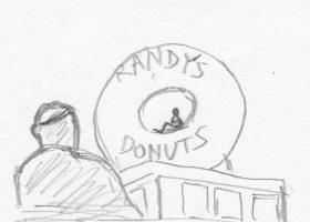 ドーナツを食うアイアンマン