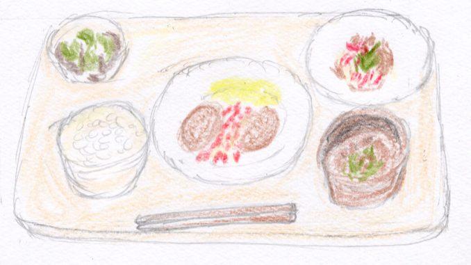 チキンのゴマサルサ定食