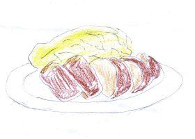 蓬莱屋の「ひれかつ定食」