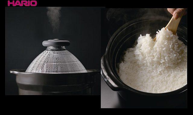 ハリオグラス「フタがガラスのご飯釜」(7350円)