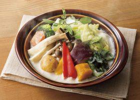 「聖護院かぶと野菜のスープグラタン仕立て」(740円)