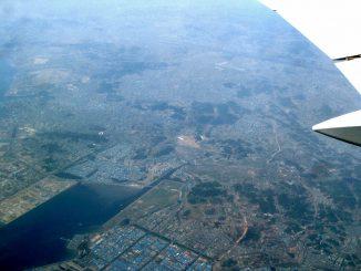 空から見た韓国