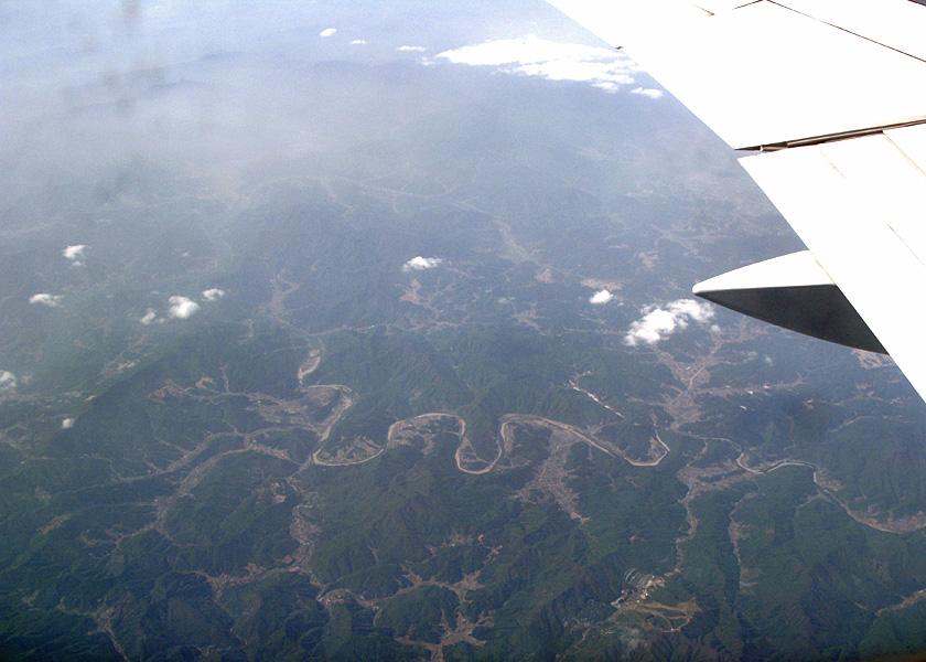 空から見た朝鮮半島