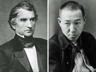 リービッヒ(左)と宮沢賢治